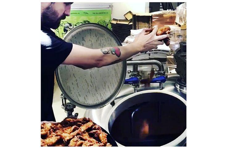 An IPA brewed with Chick-fil-A fried chicken by The Veil and Evil Twin? #beer #craftbeer #party #beerporn #instabeer #beerstagram #beergeek #beergasm #drinklocal #beertography