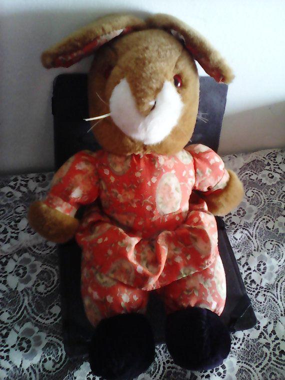 Miss Rabbit soft toy/bunny vintage toy by Mpoulitsa on Etsy