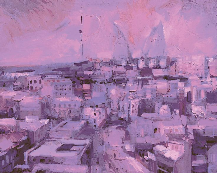 "From the series ""Magnificent Baku"" oil"