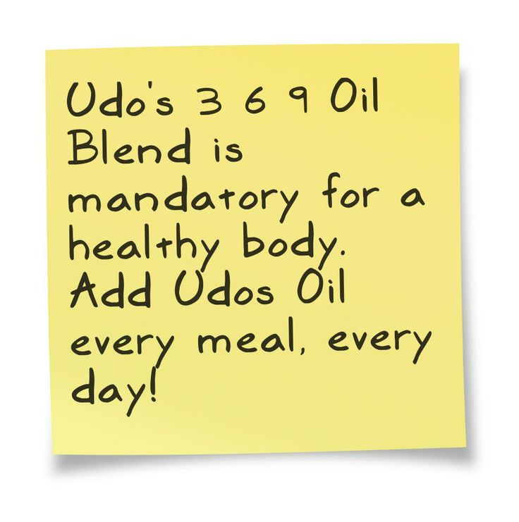 Take Udo's Oil for a healthy body, healthy mind!