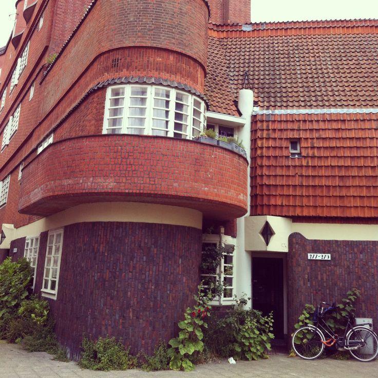 Amsterdamse school architecture (Spaarndammerbuurt in Amsterdam)