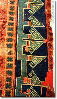 13th-century Seljuk Turkish carpet, at Turkish & Islamic Art Museum, Istanbul.
