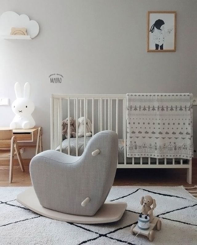 A lovely kid's room by @teoyolivia, Miffy lamp and Ooh Noo rocking horse available at www.istome.co.uk