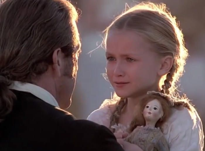 skye mccole Bartusiak in the Patriot with Mel Gibson.