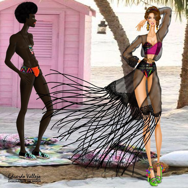 Design by #EduardoVallejo #yoamodibujarmoda #reto5 #swimwear