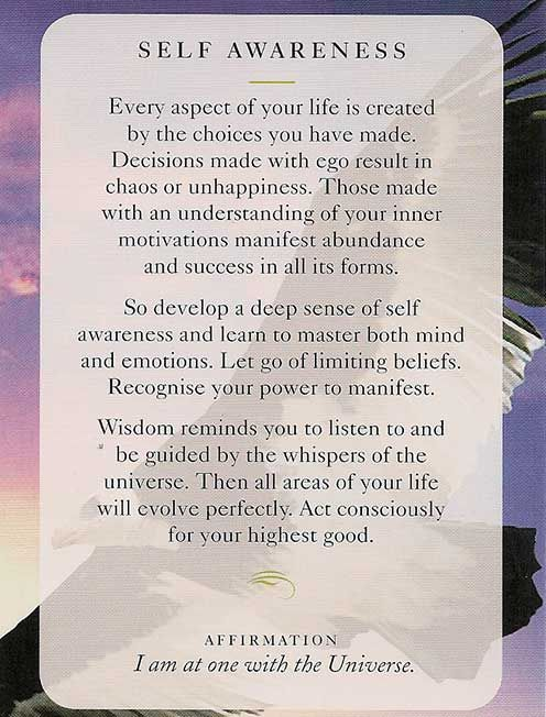 """Self Awareness"" - Wisdom Card – Diana Cooper"