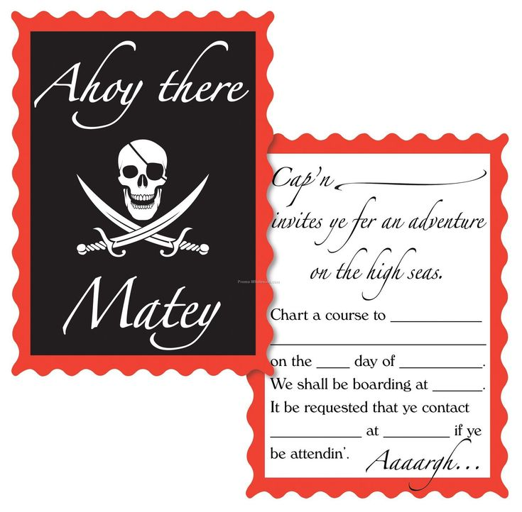 10 best pirate princess party invites images on Pinterest Pirate - best of invitation party card