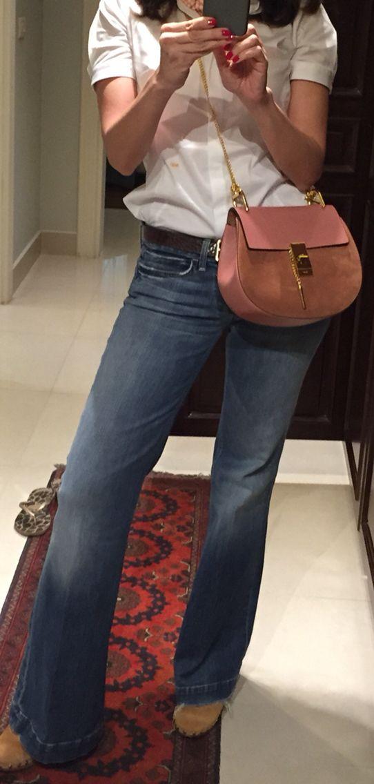 Seven jeans wide leg , Massimo Dutti shirt , Chloé bag and Uterque clogs