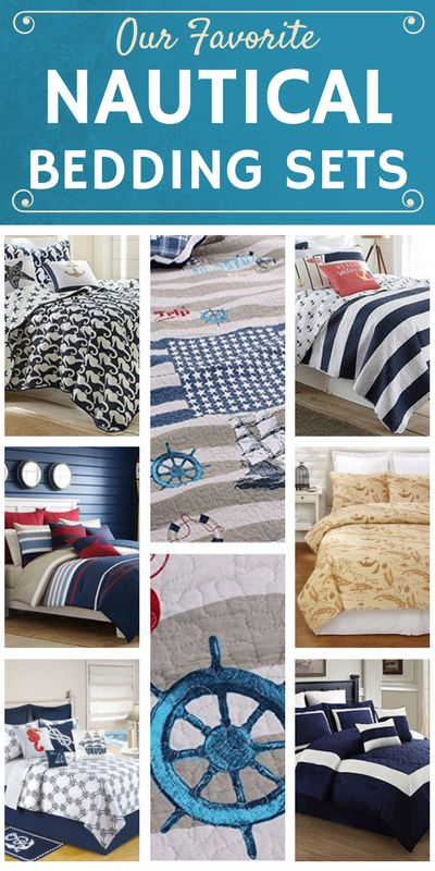 Our favorite Nautical Bedding Sets!  Check out a full list of nautical themed comforter and quilt sets along with shams and duvet covers for your home on the coast.  Find bedding sets with nautical themes like anchors, lighthouses, stripes, ship wheels, sailboats, compasses, rope, trellis, seashells, and more.