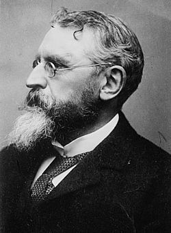 William O'Brien, Irish Nationalist, was jailed in 1887 under a new Coercion Act. He refused to wear the prison uniform.