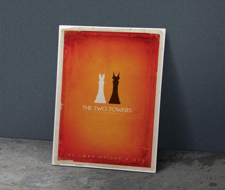İki kule - Metal Plaka Poster 40X28 cm ebatlarında javvuz kalitesiyle metalden…