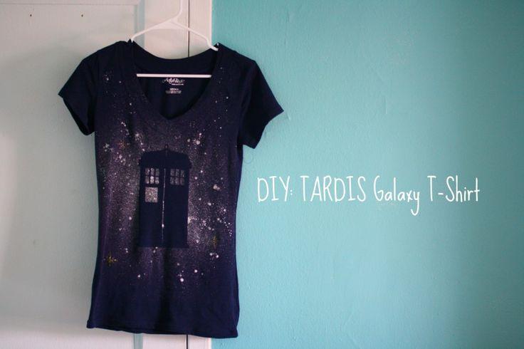 DIY TARDIS Galaxy T-Shirt