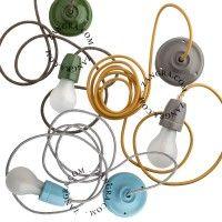 oprawka żarówki porelanowa - różne kolory 001- Zangra