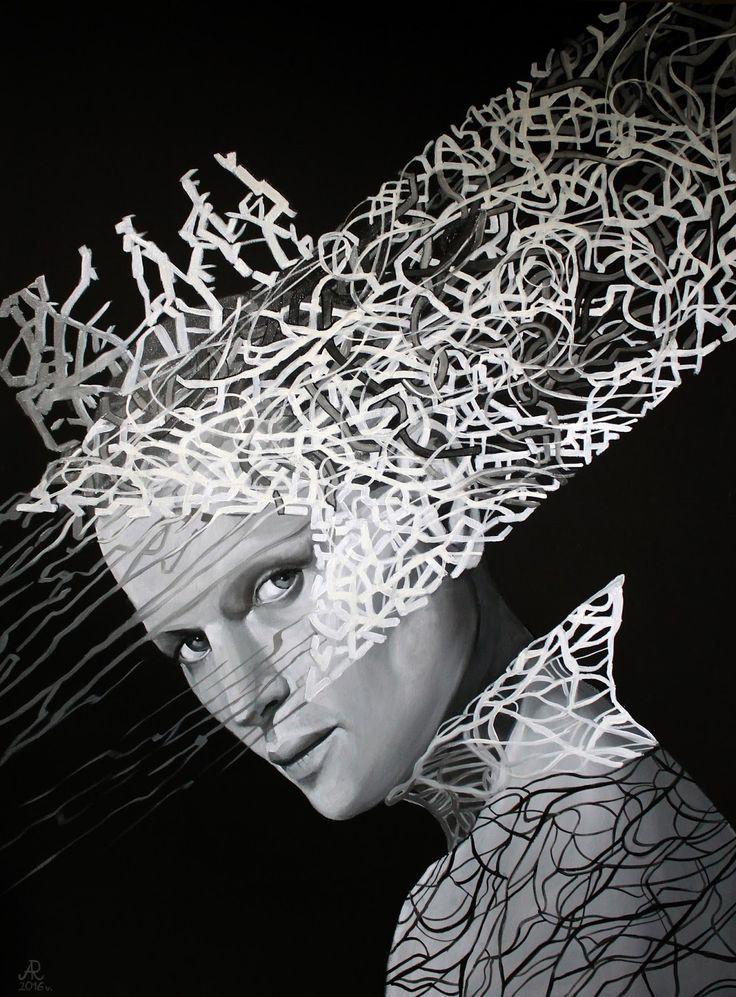 Anna Rączka ,,Hamlet''olej na płótnie 100 x 75 cm Image