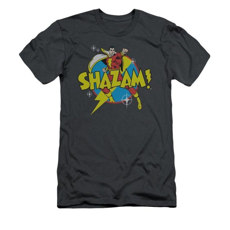 DC Comics Shazam - Power Bolt Adult Slim Fit T-Shirt