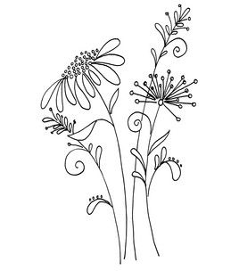 So this is a stamp... but it would make an awesome tattoo with my kids names in the stems of the flowers!