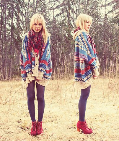 Oversized tribal cardigan