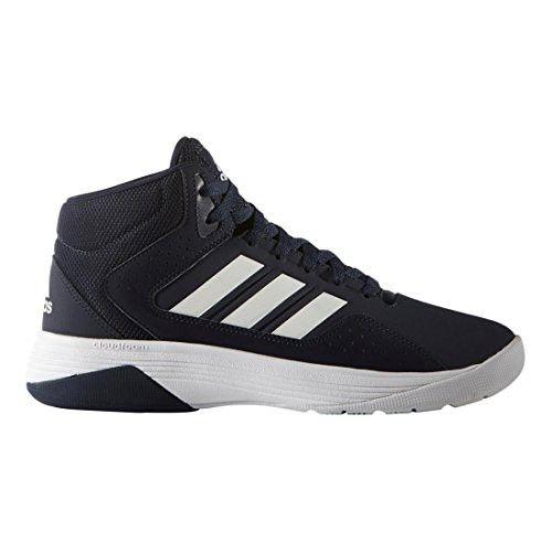 adidas adidasVS Hoops Mid 2.0 - Vs Hoops Mid 2.0 Hombres, Blanco (White/Core Black/Collegiate Navy), 12 D(M) US