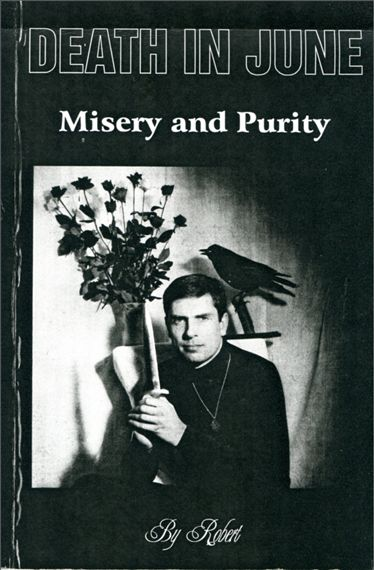 Death In June  Misery and Purity book in Italian, exceedingly rare