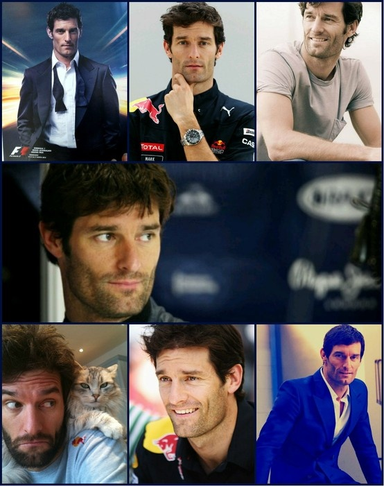 El piloto de carreras de la Fórmula 1, el australiano Mark Webber.