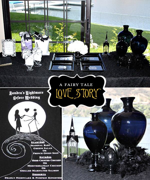 Nightmare Before Christmas themed party (wedding shower pictured)