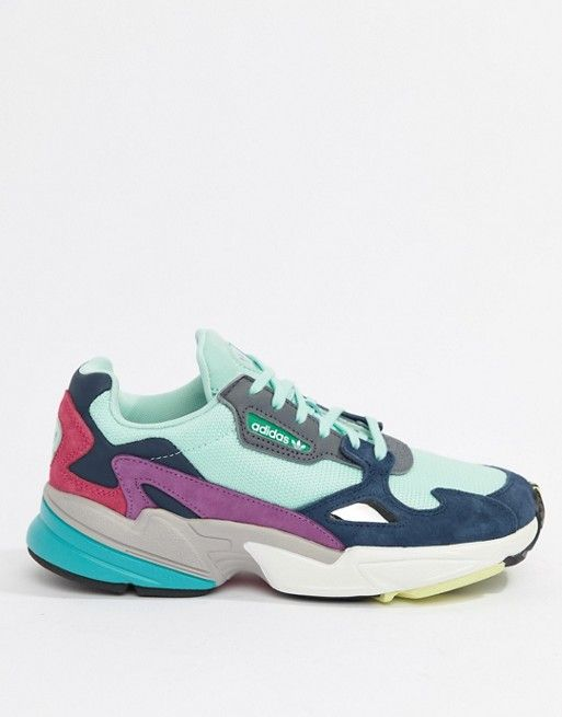 De confianza Trivial ayudar  asos 753 kr adidas Originals | adidas Originals Falcon Trainer In Mint  Multi | Sneakers, How to tie shoes, Adidas originals