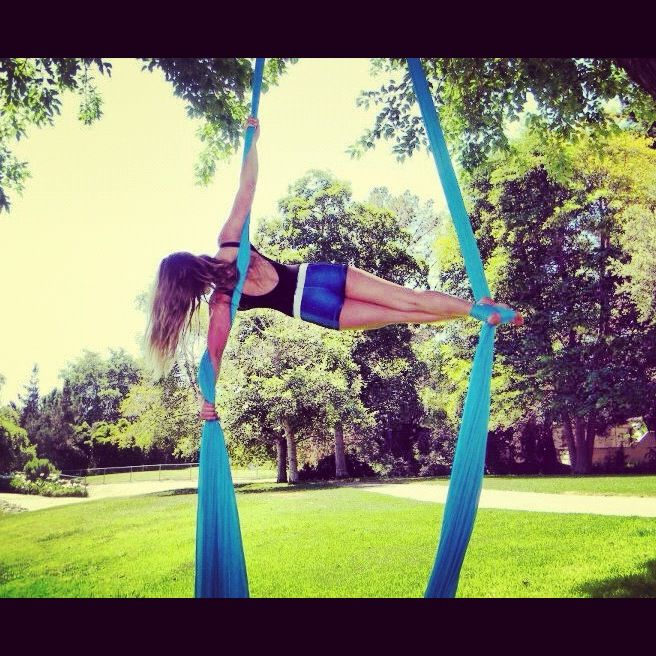 Aerial Silks. I see all these poses and I hunger to do them all!