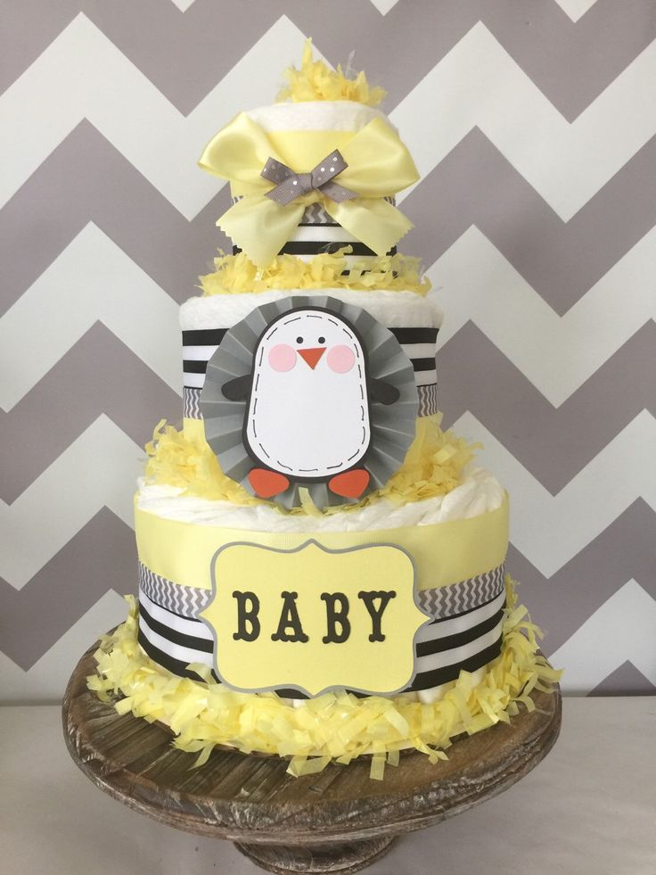 baby shower diaper cakes baby shower diapers penguin baby showers