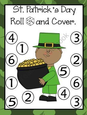 St. Patricks Day/ Dia De San Patricio Roll and Cover Games product from Bilingual-Resources on TeachersNotebook.com