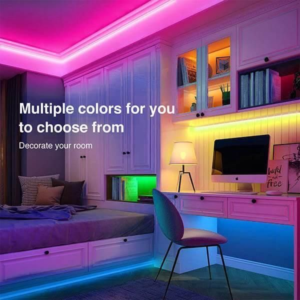 Led Strip Light W Remote Control In 2021 Led Lighting Home Led Strip Lighting Led Lighting Bedroom