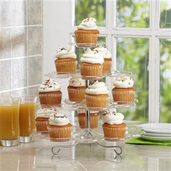 B.Crocker 4-Tier Cupcake/Dessert Stand 24-Cupcakes Clear   Kitchen Stuff Plus