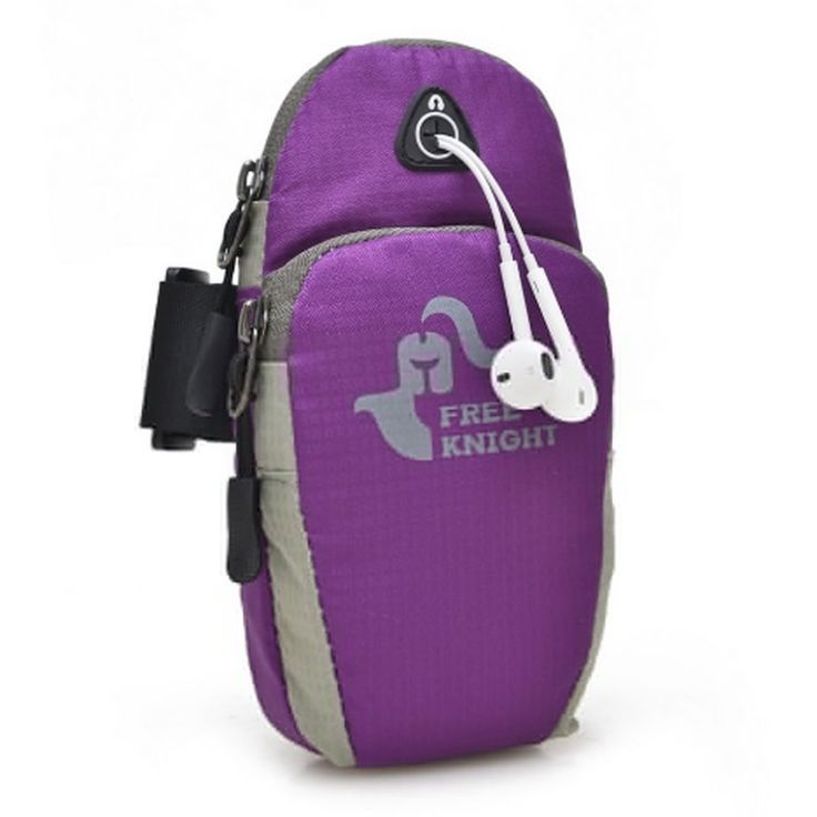 Bolayu Sports Running Jogging Gym Armband Holder Arm Band Bag For Mobile Phones (Purple). Material: Nylon. Size:18*9*5cm. Soft and comfortable. Double pockets - one with a zipper design, another with fastening. This is relatively easy to carry, use strap design, more breathable. Enough storage space for mobile phone, MP3/MP4, keys, money and other small portable items when you are doing sports. This Mobile Arm Band Bag can bring convenience to you when you wear this bag for sporting...