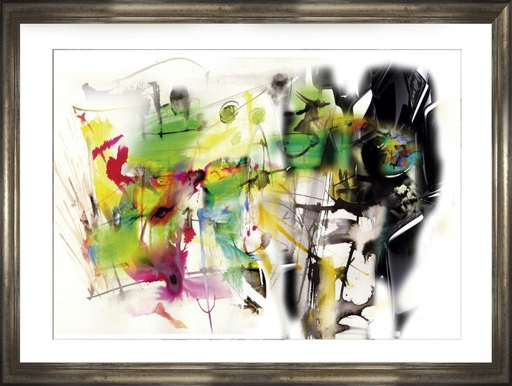 AIRE ZEN 2014 4 (Mixed Media -watercolor+acrylic+softpastels & inks- on Duotone Digital Print (ask by facebook)