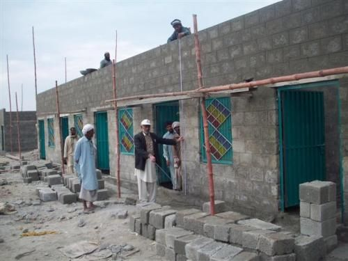 ADP is working with Sahara for Life Welfare Trust to construct a model village at Basti Ghareebabad in Kot Addu, Distt. Muzaffargarh.  This model village is a huge project to help people rebuild their homes and lives. ADP will be funding the construction of 10 homes, equipped with WASH facilities, as part of a larger project.