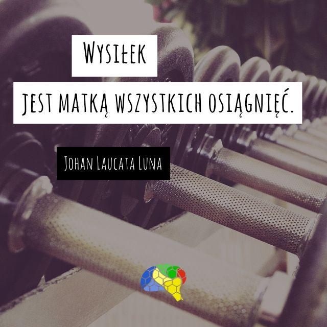 """""""Wysiłek jest matką wszystkich osiągnięć."""" ~Johan Laucata Luna  #brainMorning"""