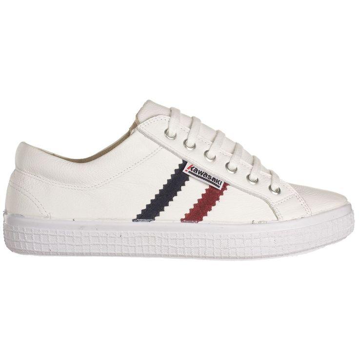Zapatillas Kawasaki Slam Leather White #moda #verano #zapatillas