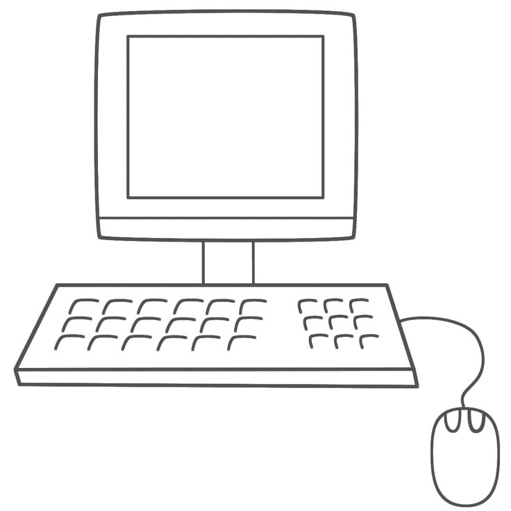 1 Computer Coloring Pages For Kids