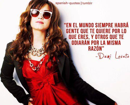 Frase de Demi Lovato
