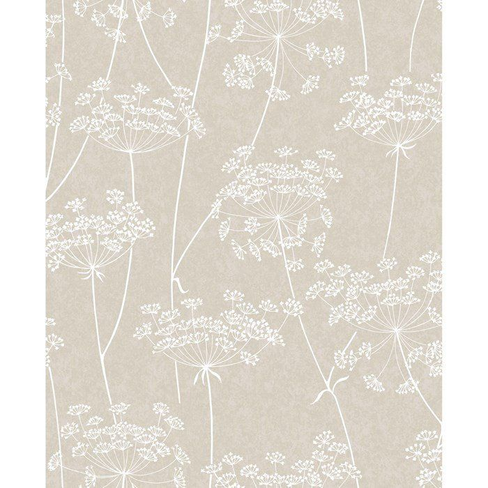 Aura Wallpaper in Taupe from the Innocence Collection by Graham & Brown