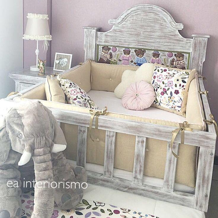 Diseño por ea interiorismo  Habitación vintage bebe  Baby vintage bedroom