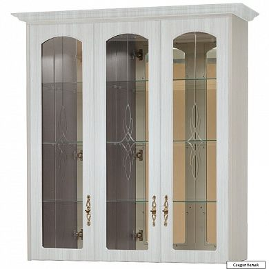 Шкаф для посуды с зеркалами В-9 купить в Екатеринбурге | Мебелька