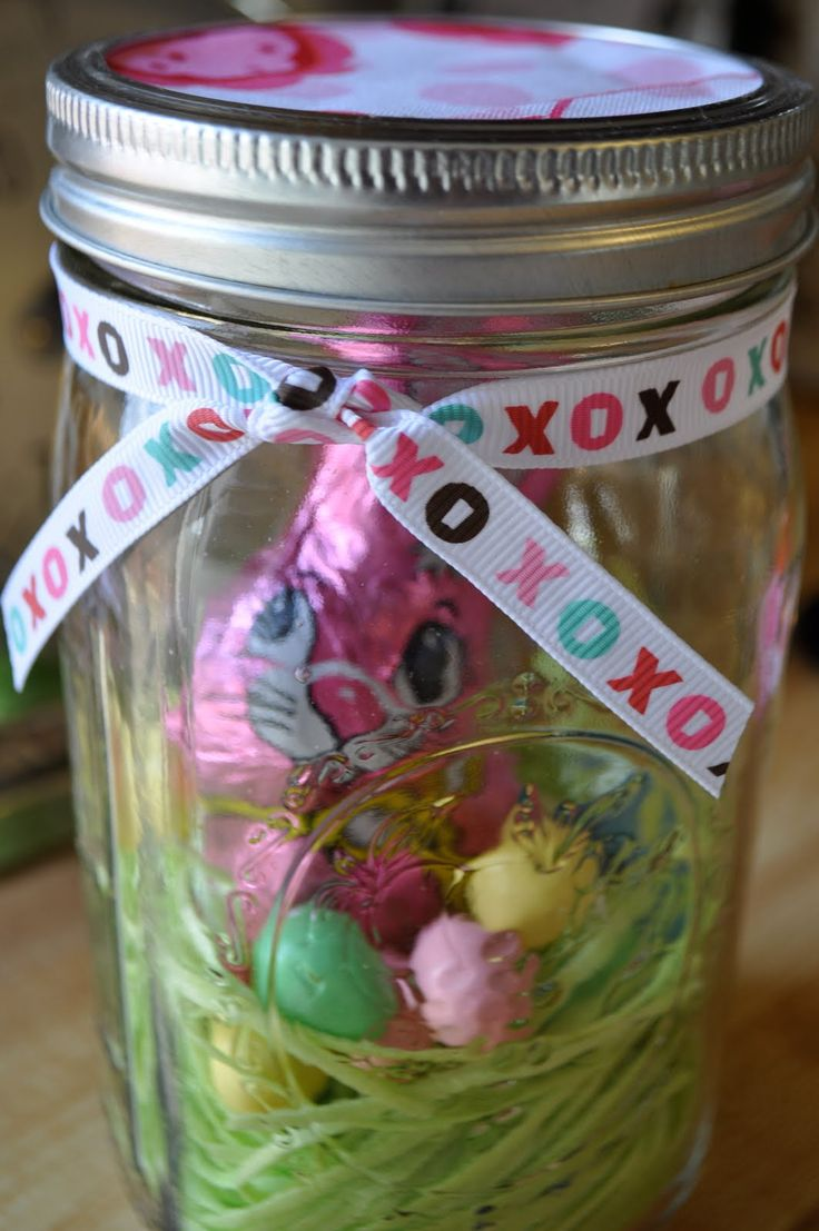 33 best easter gift baskets gifts favors more images on little bit funky 20 minute crafter edible easter decor in a jar negle Choice Image