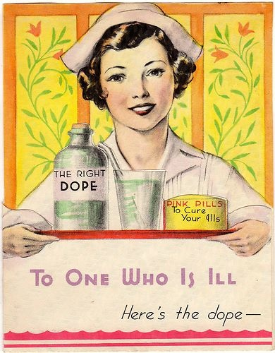 RARE Vintage Get Well Card Beautiful Nurse Drugs Here's The Dope Art Deco 1930s | eBay