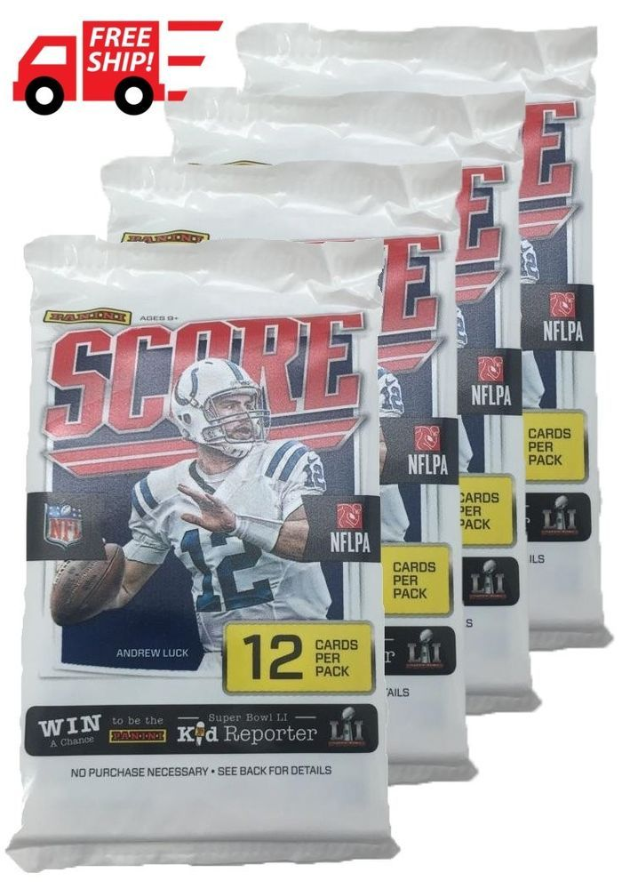 HOT! 2016-2017 Score NFL Football Trading Card Retail Factory Sealed 4 Pack NEW #UniversalSpecialties