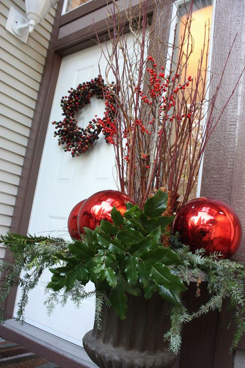 Decorating Front Porch Urns For Christmas Magnificent 107 Best Christmas Images On Pinterest  Activities Beach And Inspiration Design