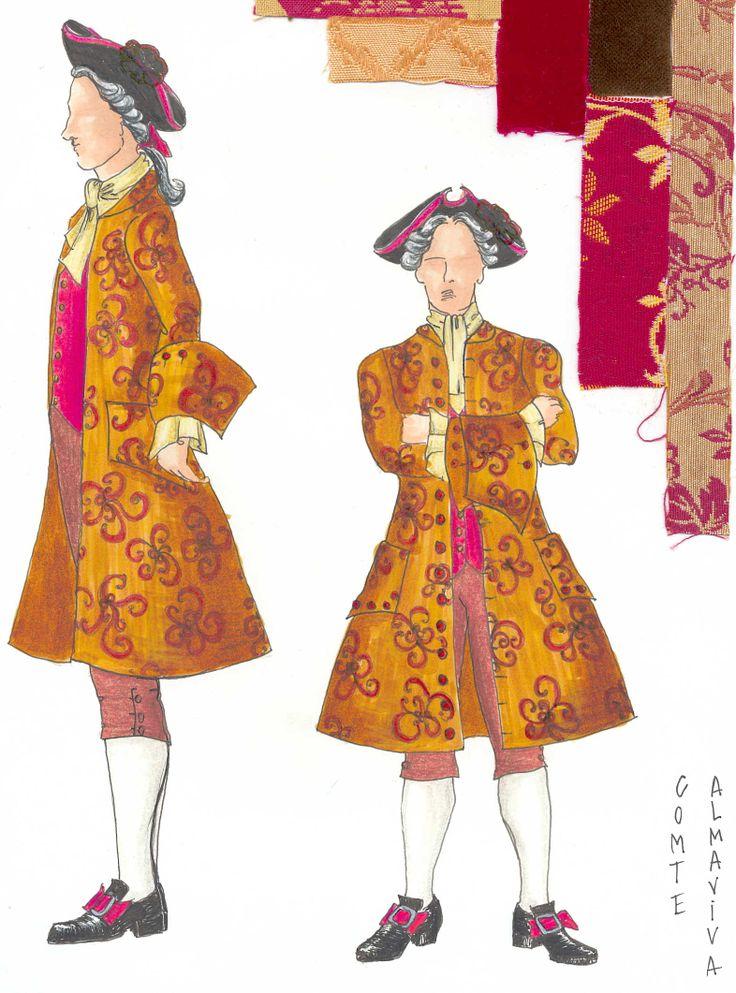 Schizzo per Il costume de Almaviva de Il SuperBarbero di Siviglia Data: 1993 Regia: Tricicle, Pilar Solé  Costume: Ana Güell  Resoluzione: (2352 x 2923) 300ppp Fonte: www.tricicle.com