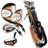 Intech Lancer Junior Golf Set, (Left-Handed, Age 8 to 12, 17.5 degree Driver, 4/5 Hybrid Iron, Wide Sole 7 and 9 irons, Junior Putter, Deluxe Stand Bag) - http://tonysgolf.com/2015/04/05/intech-lancer-junior-golf-set-left-handed-age-8-to-12-17-5-degree-driver-45-hybrid-iron-wide-sole-7-and-9-irons-junior-putter-deluxe-stand-bag/