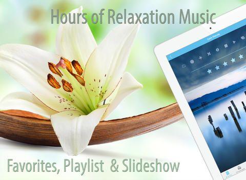 En app med avkopplande musik.