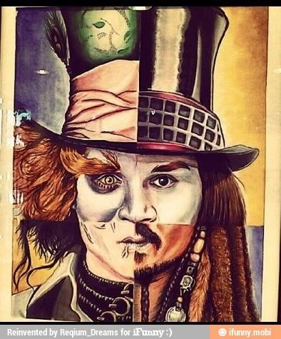 Alice in Wonderland, Willy Wonka, Edward Scissor Hands, and Pirates of the Caribbean. Johnny Depp.