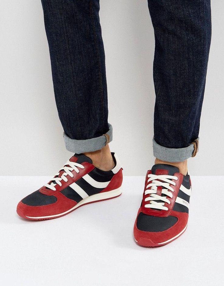 BOSS ORANGE BY HUGO BOSS ORLAND SPORT NYLON IN RED - RED. #bossorange #shoes #